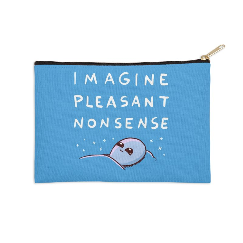 STRANGE PLANET SPECIAL PRODUCT: IMAGINE PLEASANT NONSENSE Accessories Zip Pouch by Nathan W Pyle