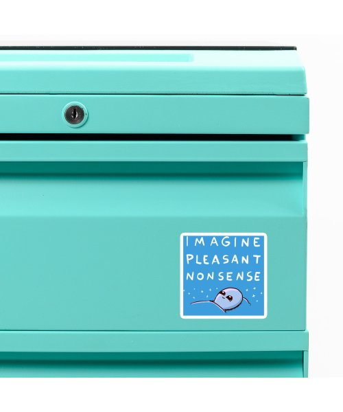STRANGE PLANET SPECIAL PRODUCT: BLUE STICKER IMAGINE PLEASANT NONSENSE