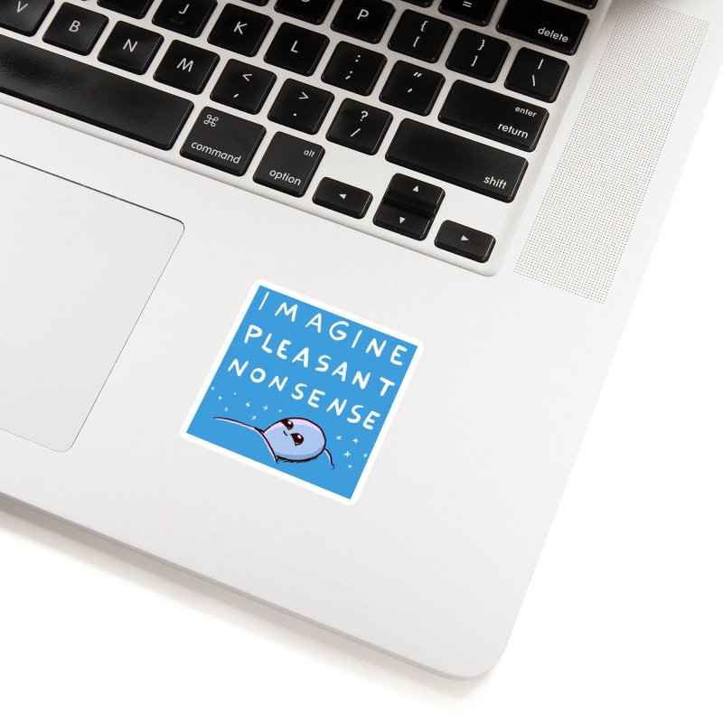 STRANGE PLANET SPECIAL PRODUCT: BLUE STICKER IMAGINE PLEASANT NONSENSE Accessories Sticker by Nathan W Pyle