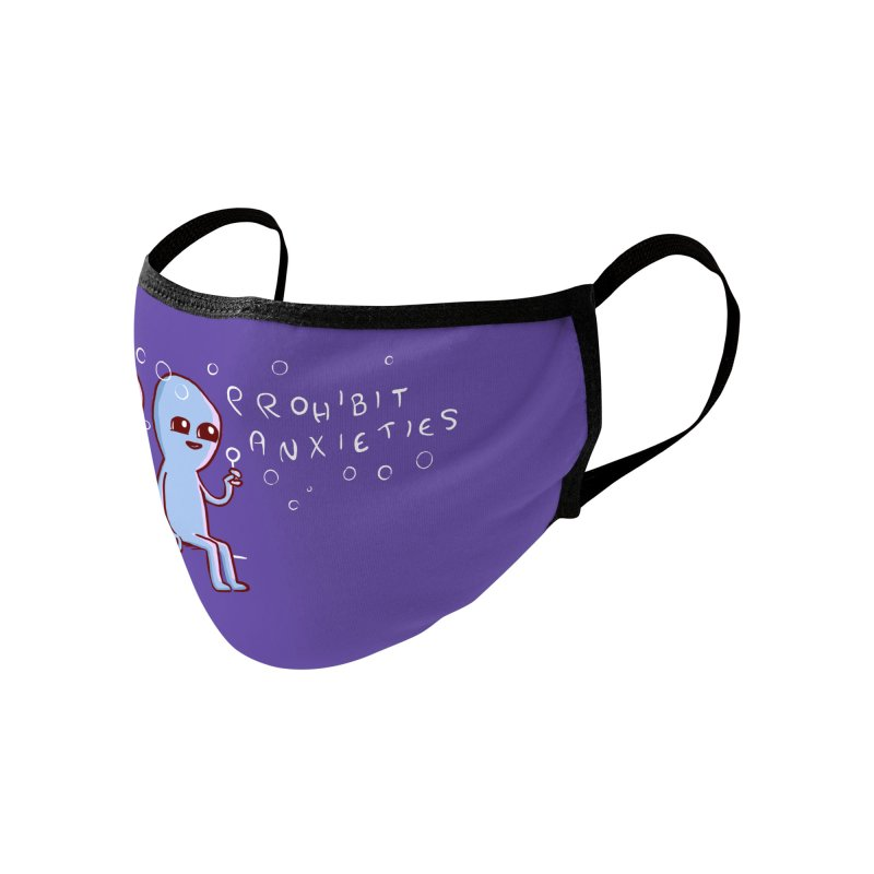 STRANGE PLANET SPECIAL PRODUCT: PROHIBIT ANXIETIES Accessories Face Mask by Nathan W Pyle