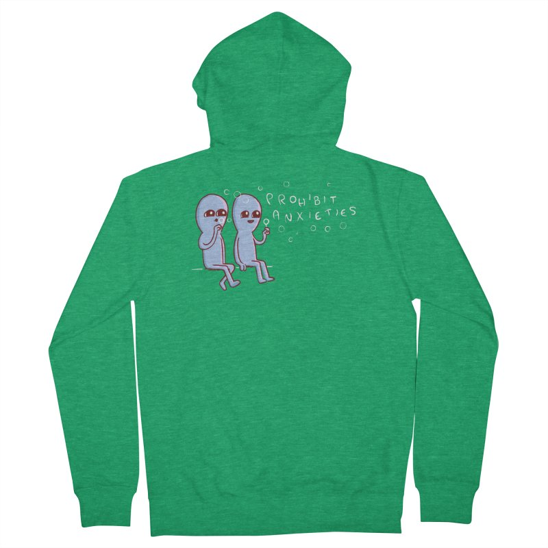 STRANGE PLANET SPECIAL PRODUCT: PROHIBIT ANXIETIES Women's French Terry Zip-Up Hoody by Nathan W Pyle