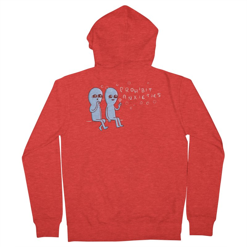 STRANGE PLANET SPECIAL PRODUCT: PROHIBIT ANXIETIES Men's Zip-Up Hoody by Nathan W Pyle Shop | Strange Planet Store | Thread