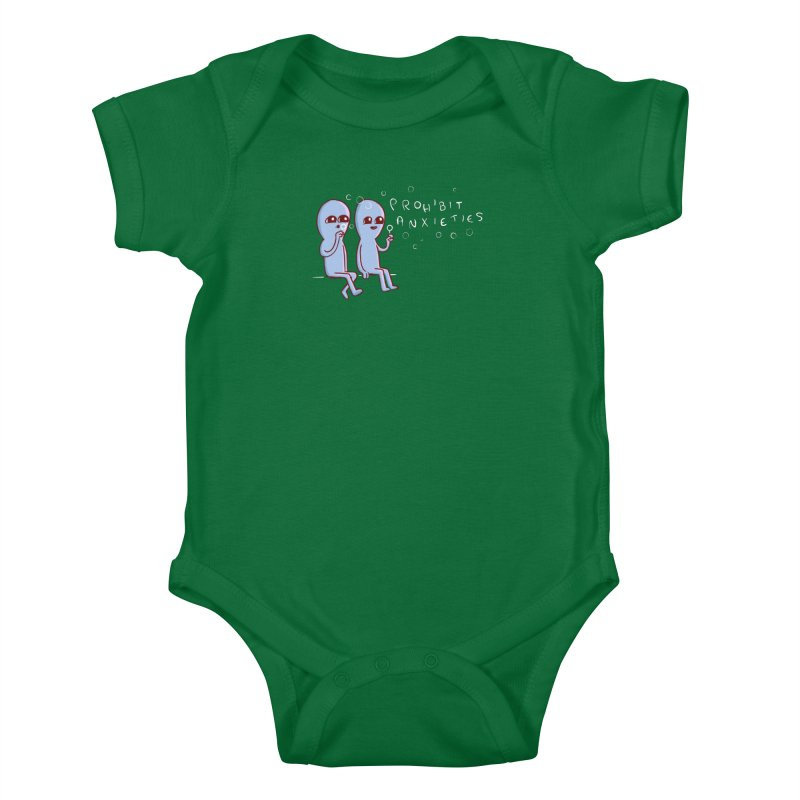 STRANGE PLANET SPECIAL PRODUCT: PROHIBIT ANXIETIES Kids Baby Bodysuit by Nathan W Pyle