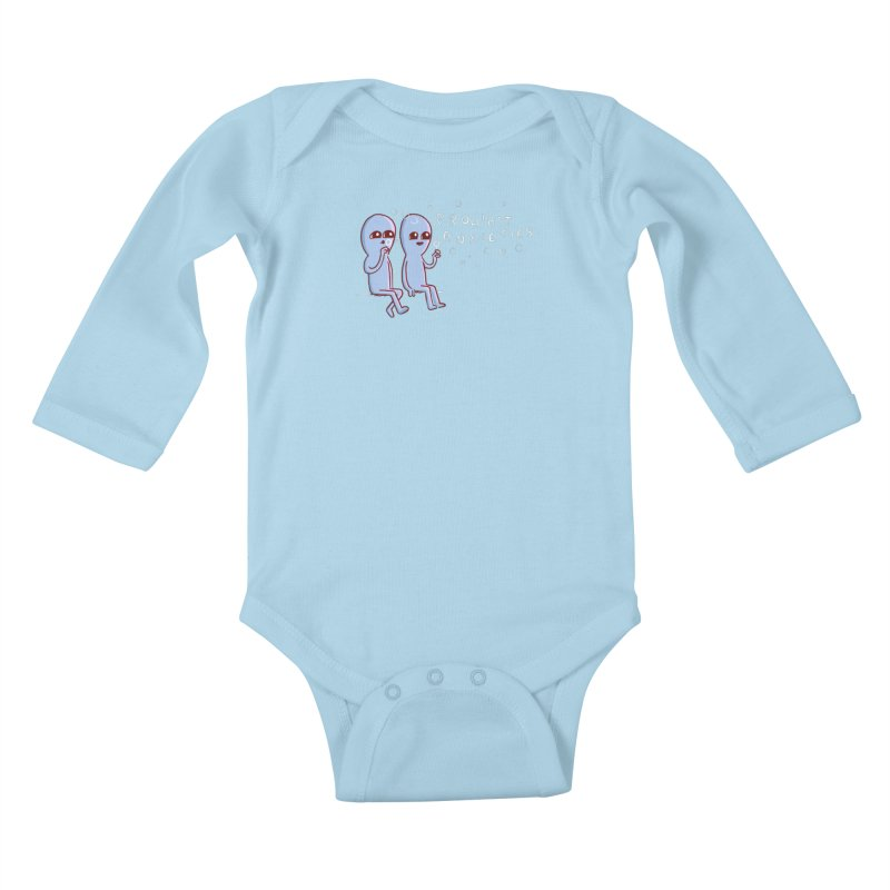 STRANGE PLANET SPECIAL PRODUCT: PROHIBIT ANXIETIES Kids Baby Longsleeve Bodysuit by Nathan W Pyle