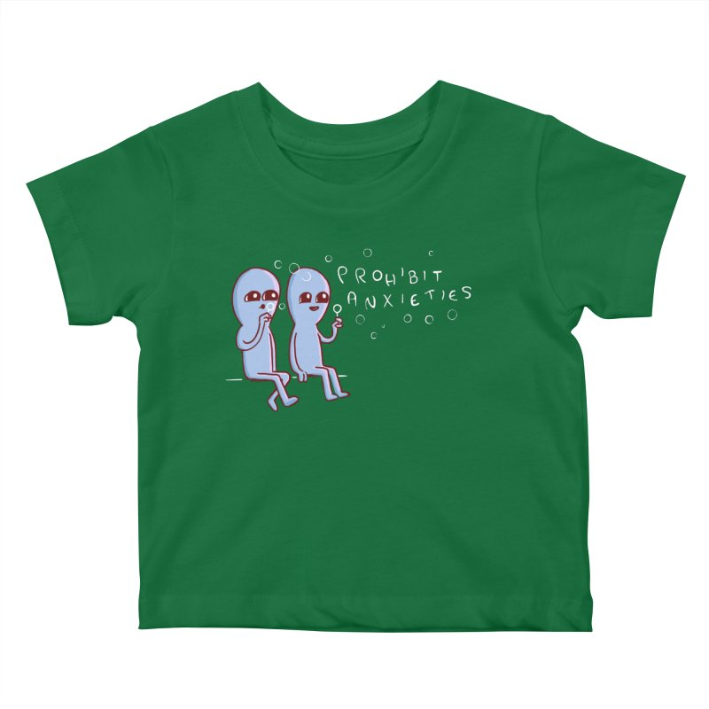STRANGE PLANET SPECIAL PRODUCT: PROHIBIT ANXIETIES Kids Baby T-Shirt by Nathan W Pyle