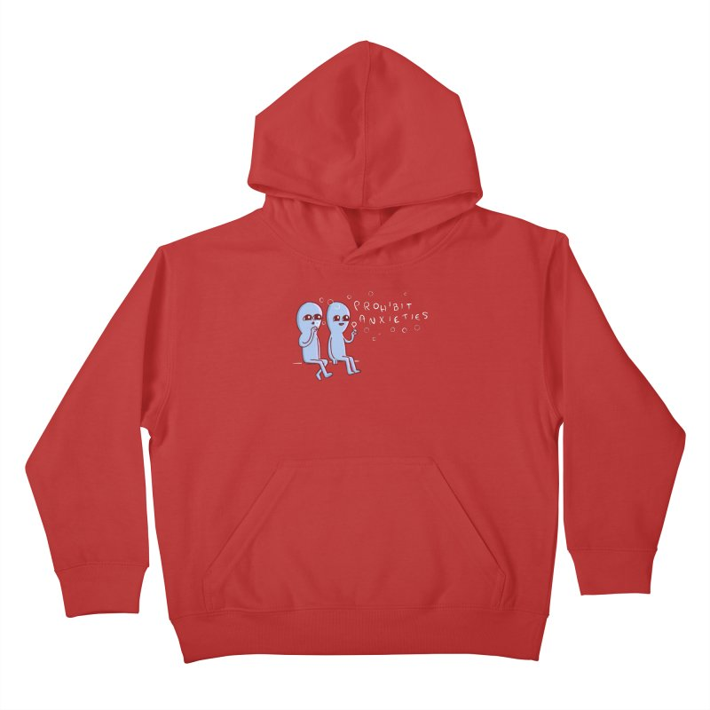 STRANGE PLANET SPECIAL PRODUCT: PROHIBIT ANXIETIES Kids Pullover Hoody by Nathan W Pyle