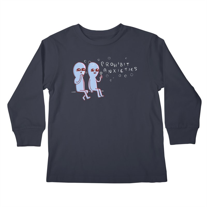 STRANGE PLANET SPECIAL PRODUCT: PROHIBIT ANXIETIES Kids Longsleeve T-Shirt by Nathan W Pyle