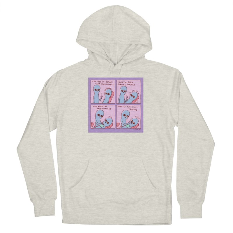 STRANGE PLANET: I'M HERE TO SCRAPE YOUR MOUTH STONES Men's Pullover Hoody by Nathan W Pyle