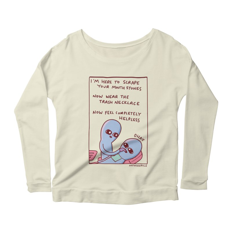 STRANGE PLANET SPECIAL PRODUCT: OHAY Women's Scoop Neck Longsleeve T-Shirt by Nathan W Pyle
