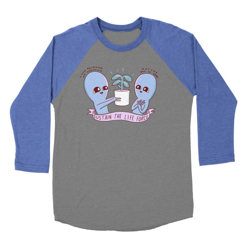 STRANGE PLANET SPECIAL PRODUCT: SUSTAIN THE LIFE FORCE Men's Baseball Triblend Longsleeve T-Shirt by Nathan W Pyle