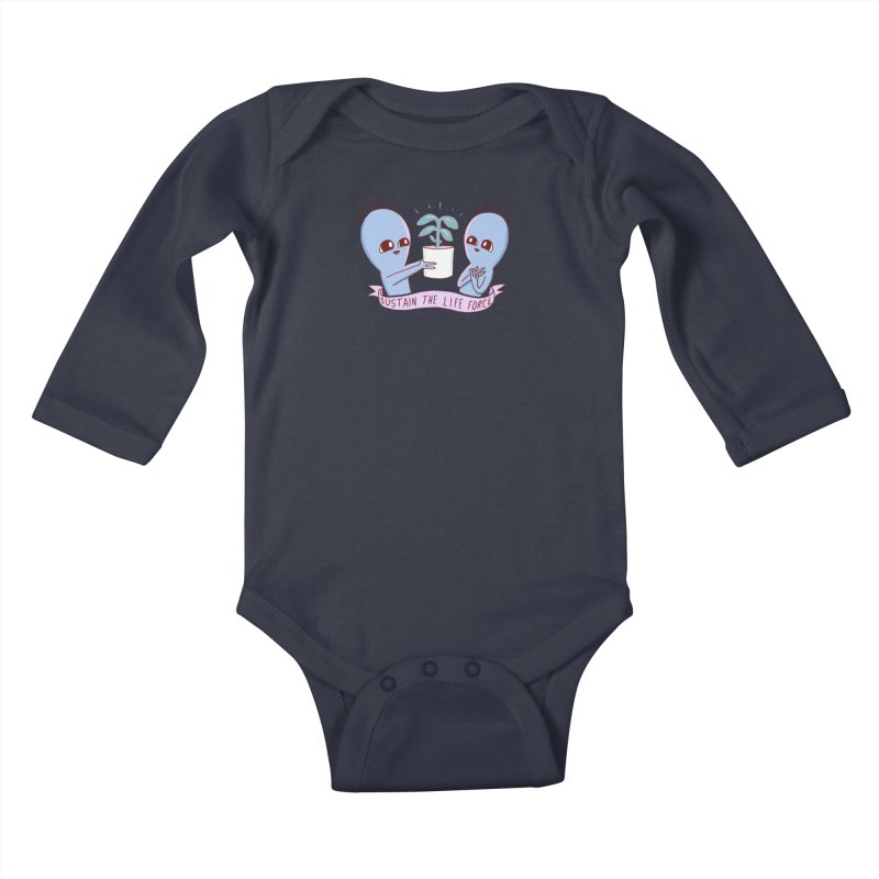 STRANGE PLANET SPECIAL PRODUCT: SUSTAIN THE LIFE FORCE Kids Baby Longsleeve Bodysuit by Nathan W Pyle