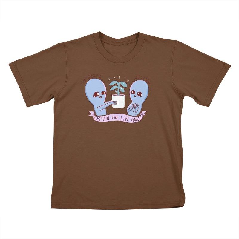 STRANGE PLANET SPECIAL PRODUCT: SUSTAIN THE LIFE FORCE Kids T-Shirt by Nathan W Pyle