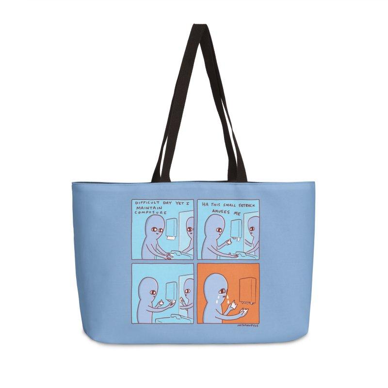 STRANGE PLANET: c o m p o s u r e Accessories Weekender Bag Bag by Nathan W Pyle