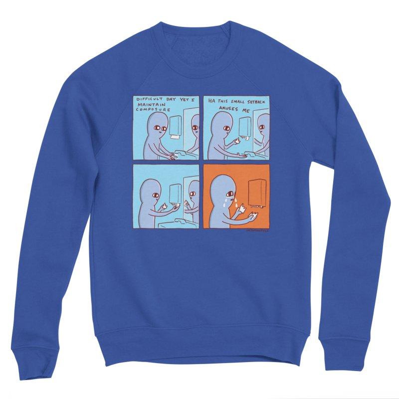 STRANGE PLANET: c o m p o s u r e Men's Sponge Fleece Sweatshirt by Nathan W Pyle
