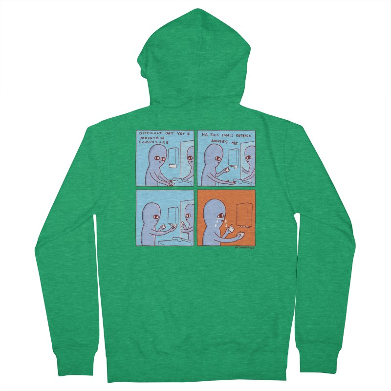 STRANGE PLANET: c o m p o s u r e Women's French Terry Zip-Up Hoody by Nathan W Pyle