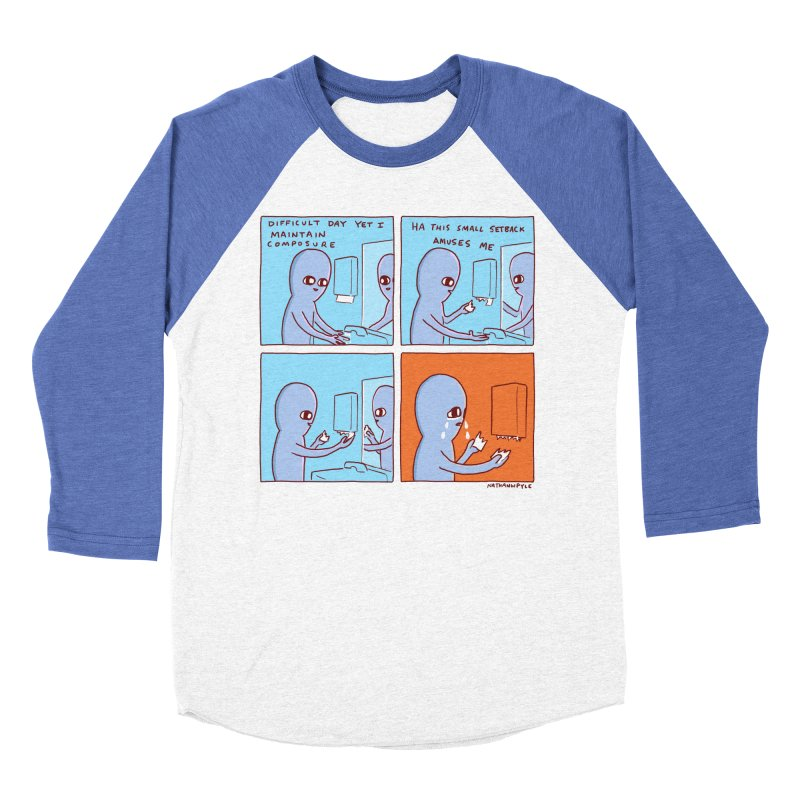 STRANGE PLANET: c o m p o s u r e Men's Baseball Triblend Longsleeve T-Shirt by Nathan W Pyle