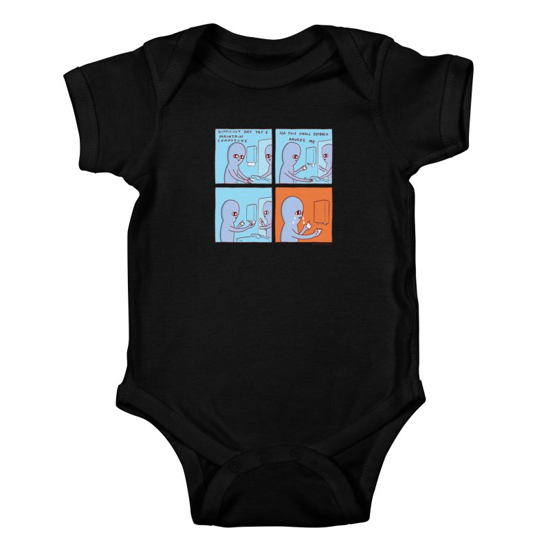 STRANGE PLANET: c o m p o s u r e Kids Baby Bodysuit by Nathan W Pyle