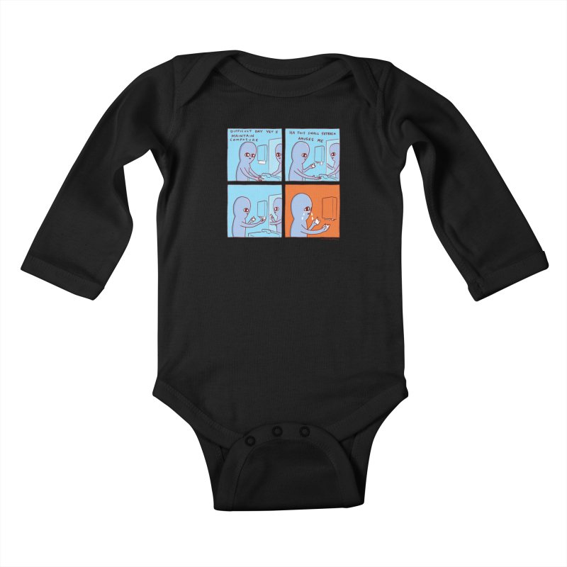 STRANGE PLANET: c o m p o s u r e Kids Baby Longsleeve Bodysuit by Nathan W Pyle