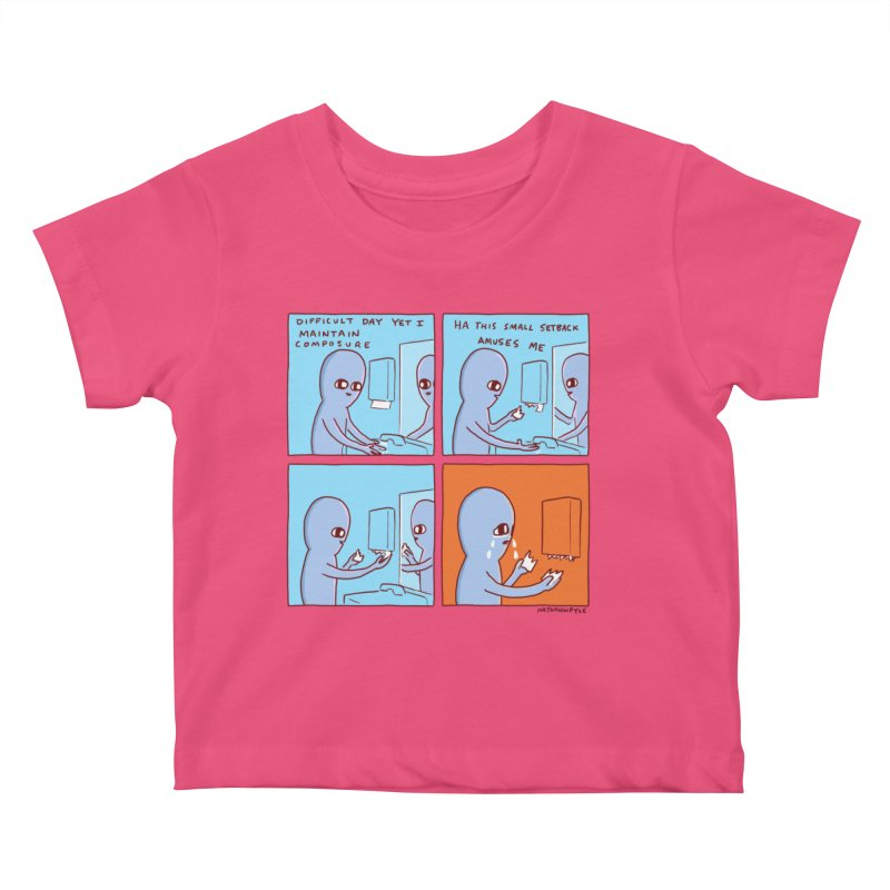 STRANGE PLANET: c o m p o s u r e Kids Baby T-Shirt by Nathan W Pyle