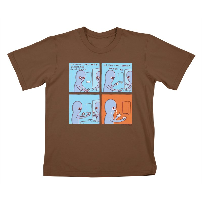 STRANGE PLANET: c o m p o s u r e Kids T-Shirt by Nathan W Pyle