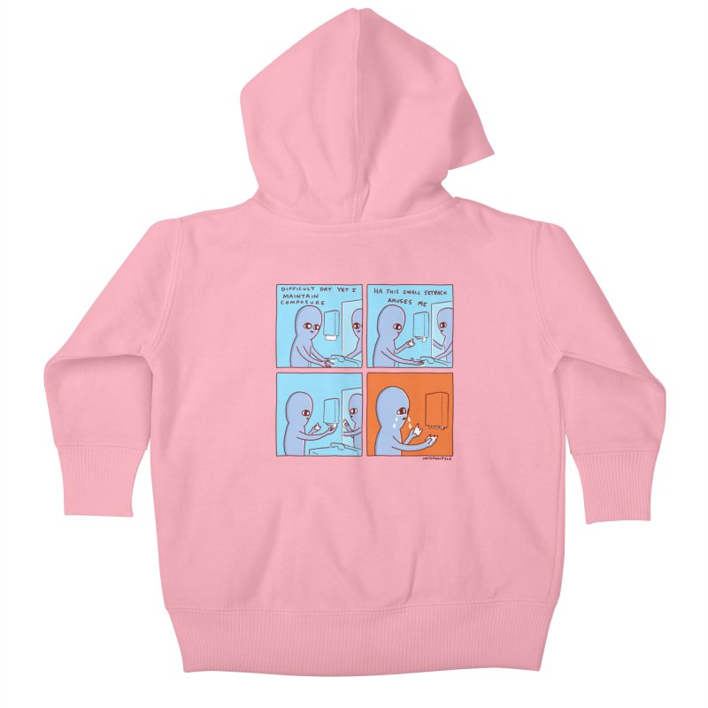 STRANGE PLANET: c o m p o s u r e Kids Baby Zip-Up Hoody by Nathan W Pyle