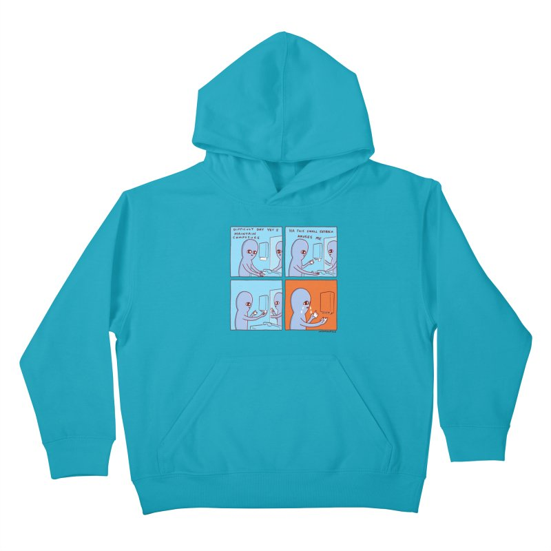 STRANGE PLANET: c o m p o s u r e Kids Pullover Hoody by Nathan W Pyle