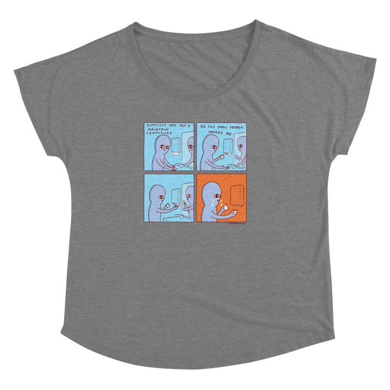 STRANGE PLANET: c o m p o s u r e Women's Scoop Neck by Nathan W Pyle