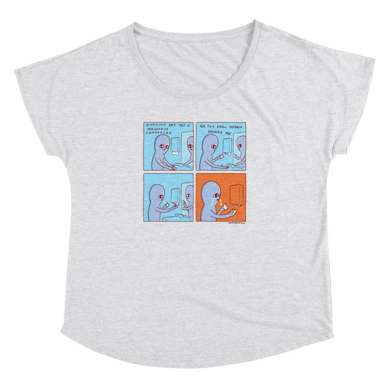 STRANGE PLANET: c o m p o s u r e Women's Dolman Scoop Neck by Nathan W Pyle