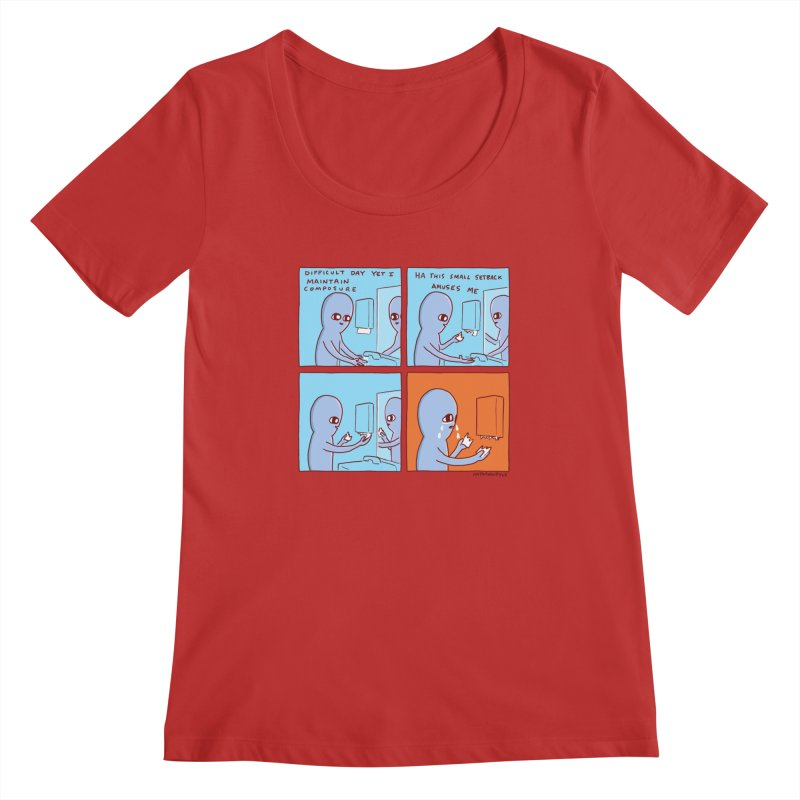 STRANGE PLANET: c o m p o s u r e Women's Regular Scoop Neck by Nathan W Pyle