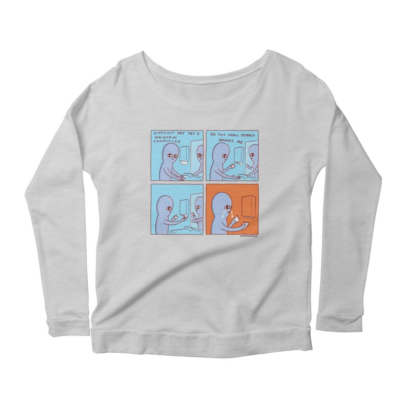 STRANGE PLANET: c o m p o s u r e Women's Scoop Neck Longsleeve T-Shirt by Nathan W Pyle