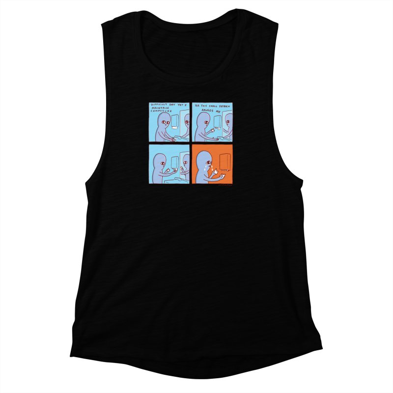 STRANGE PLANET: c o m p o s u r e Women's Muscle Tank by Nathan W Pyle