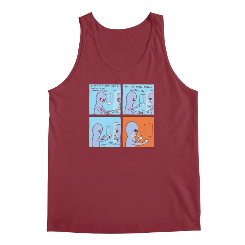 STRANGE PLANET: c o m p o s u r e Men's Regular Tank by Nathan W Pyle