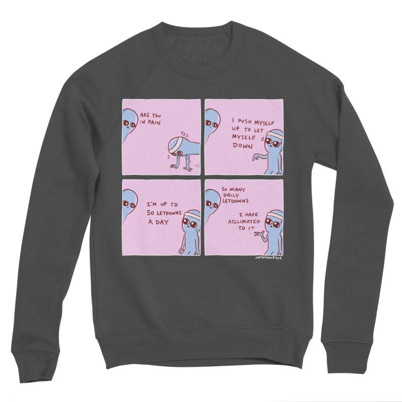 STRANGE PLANET:  p a i n Men's Sponge Fleece Sweatshirt by Nathan W Pyle