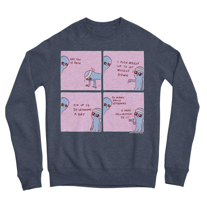 STRANGE PLANET:  p a i n Women's Sponge Fleece Sweatshirt by Nathan W Pyle
