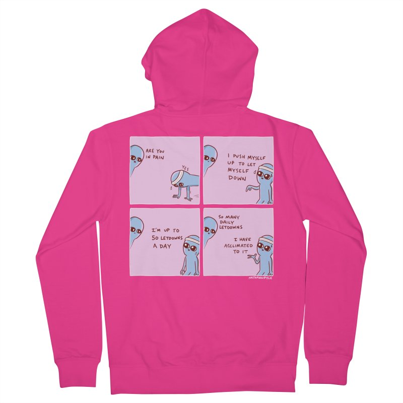 STRANGE PLANET:  p a i n Men's French Terry Zip-Up Hoody by Nathan W Pyle