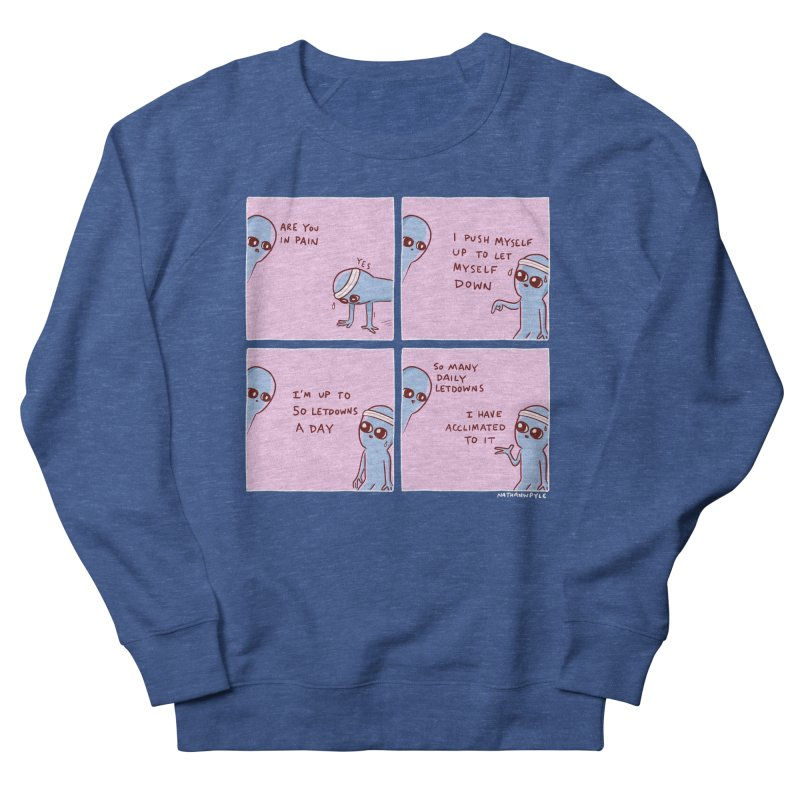 STRANGE PLANET:  p a i n Men's French Terry Sweatshirt by Nathan W Pyle
