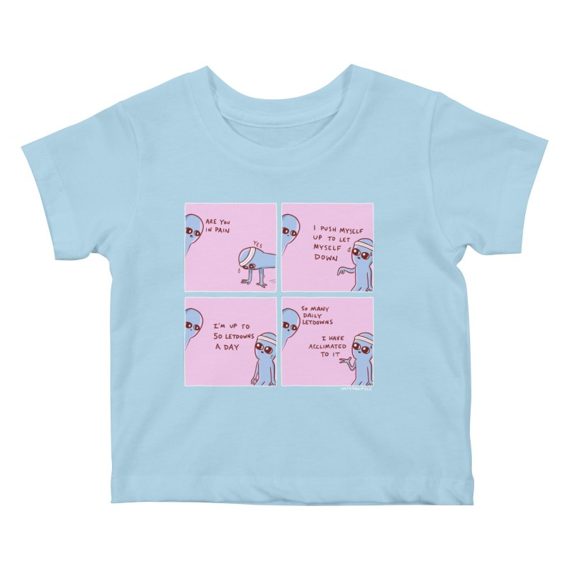 STRANGE PLANET:  p a i n Kids Baby T-Shirt by Nathan W Pyle