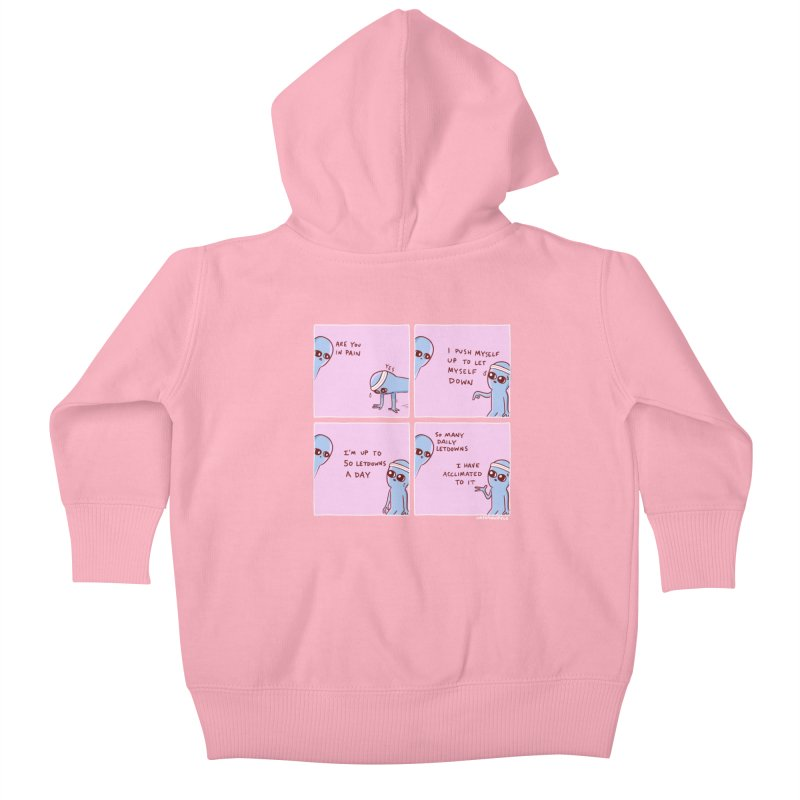 STRANGE PLANET:  p a i n Kids Baby Zip-Up Hoody by Nathan W Pyle