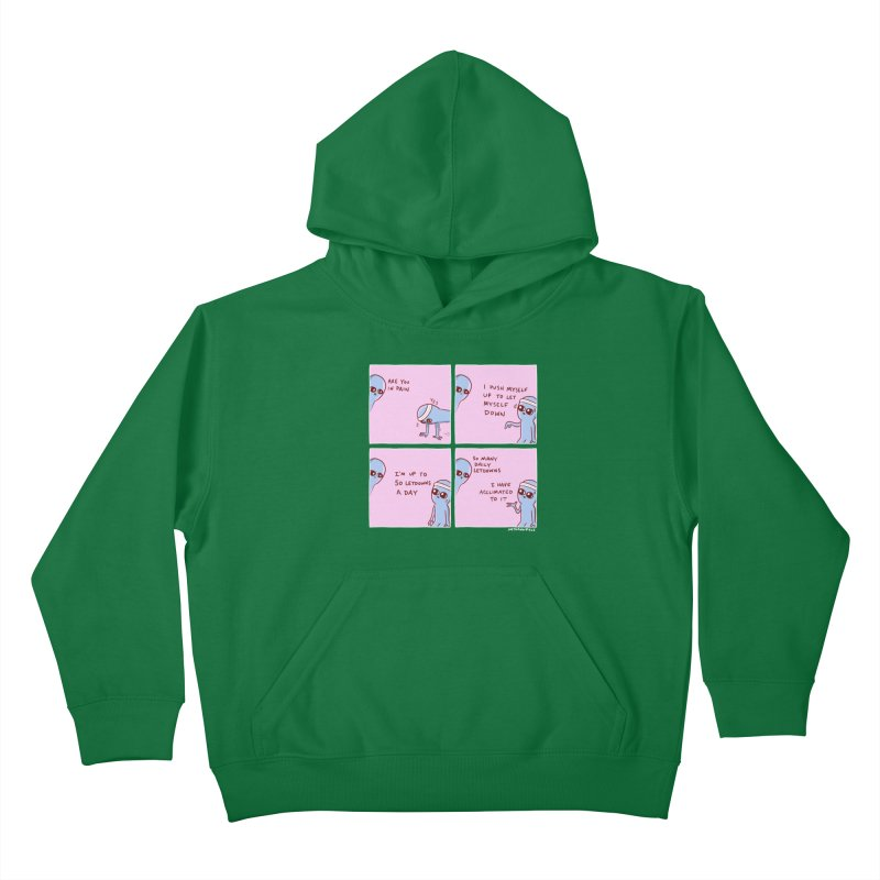 STRANGE PLANET:  p a i n Kids Pullover Hoody by Nathan W Pyle