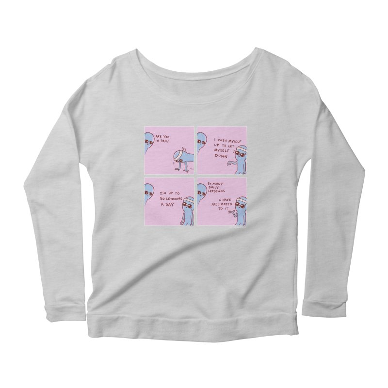 STRANGE PLANET:  p a i n Women's Scoop Neck Longsleeve T-Shirt by Nathan W Pyle