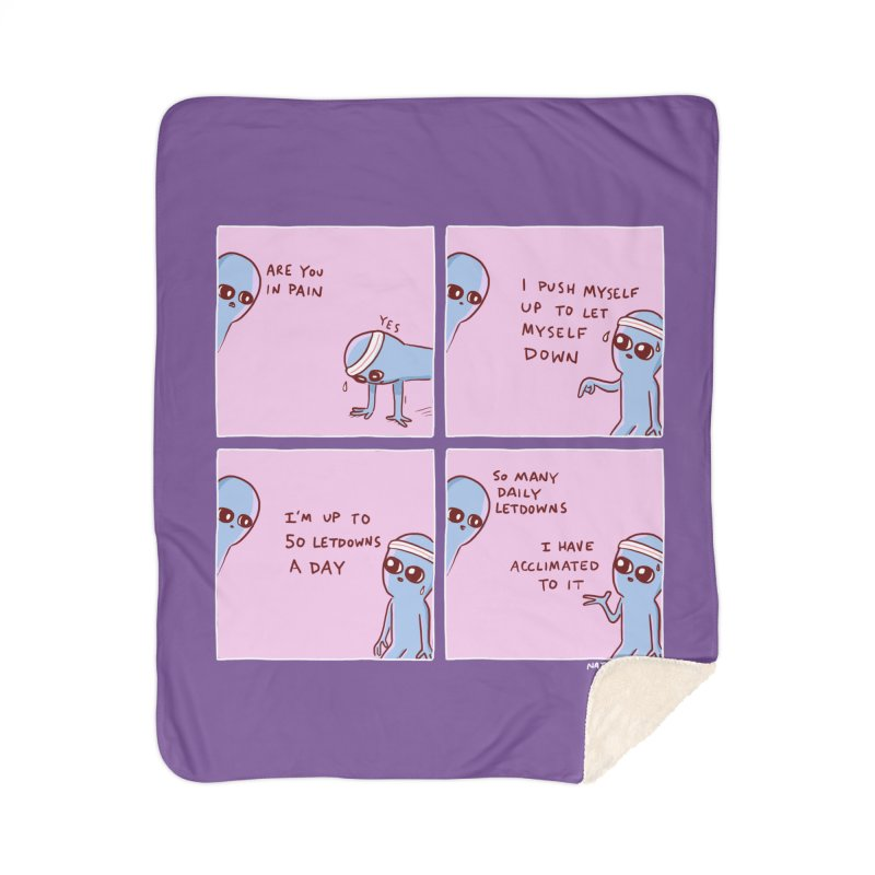 STRANGE PLANET:  p a i n Home Blanket by Nathan W Pyle