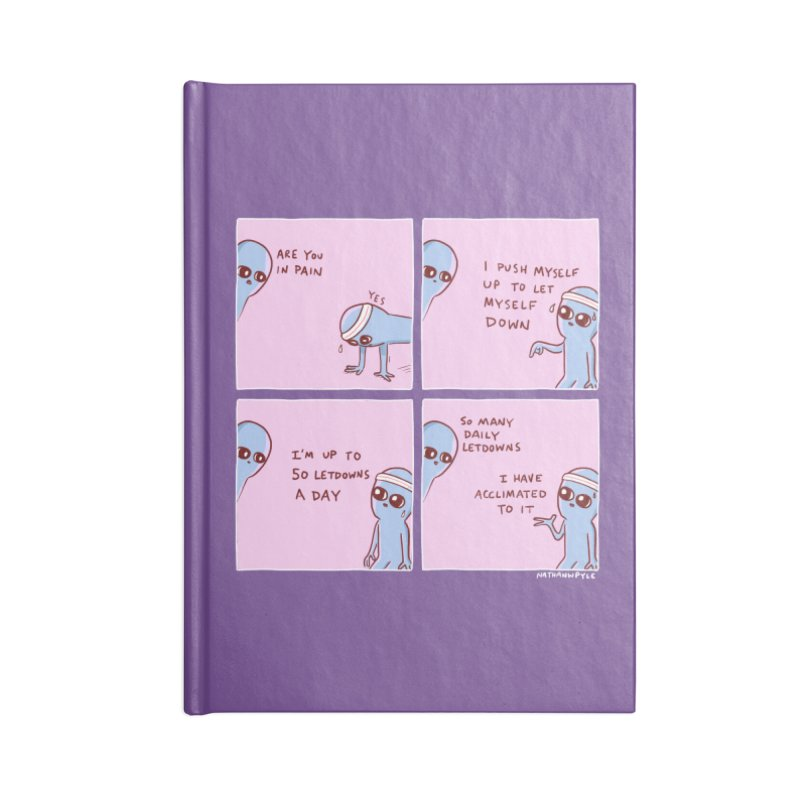 STRANGE PLANET:  p a i n Accessories Lined Journal Notebook by Nathan W Pyle