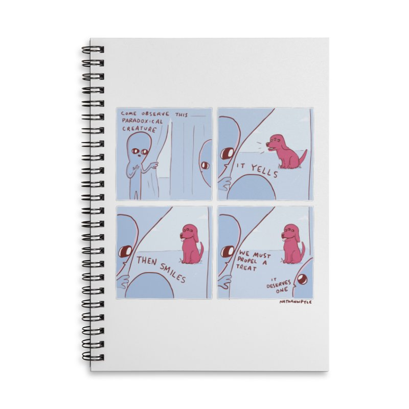 STRANGE PLANET: p a r a d o x i c a l Accessories Lined Spiral Notebook by Nathan W Pyle