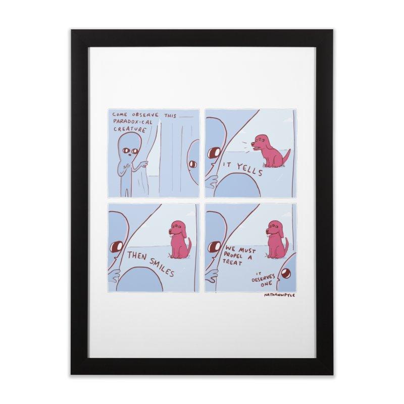 STRANGE PLANET: p a r a d o x i c a l Home Framed Fine Art Print by Nathan W Pyle