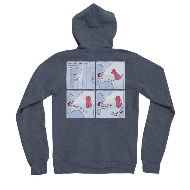 STRANGE PLANET: p a r a d o x i c a l Men's Sponge Fleece Zip-Up Hoody by Nathan W Pyle