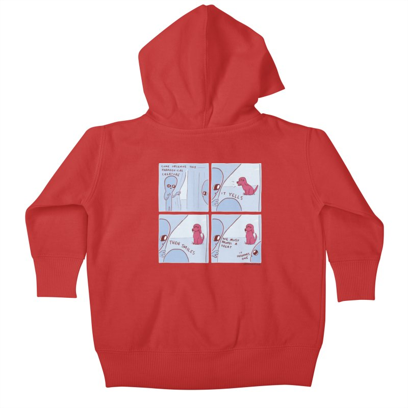 STRANGE PLANET: p a r a d o x i c a l Kids Baby Zip-Up Hoody by Nathan W Pyle