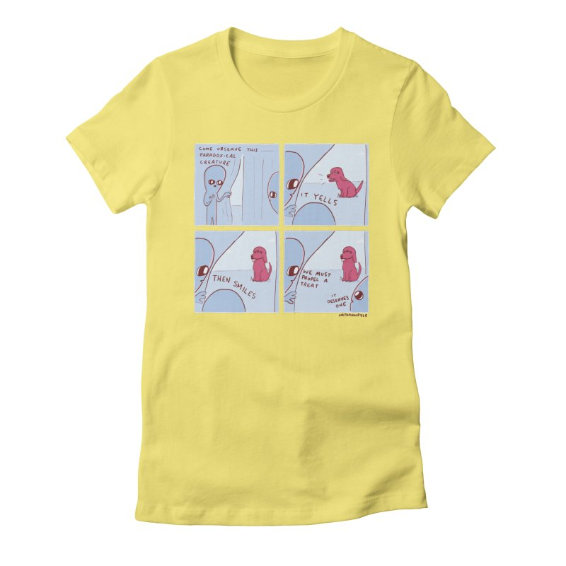 STRANGE PLANET: p a r a d o x i c a l Women's Fitted T-Shirt by Nathan W Pyle