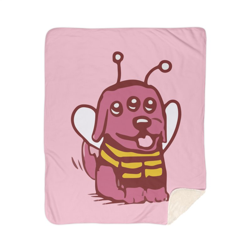 STRANGE PLANET SPECIAL PRODUCT:  OOOH DON'T STING ME Home Sherpa Blanket Blanket by Nathan W Pyle