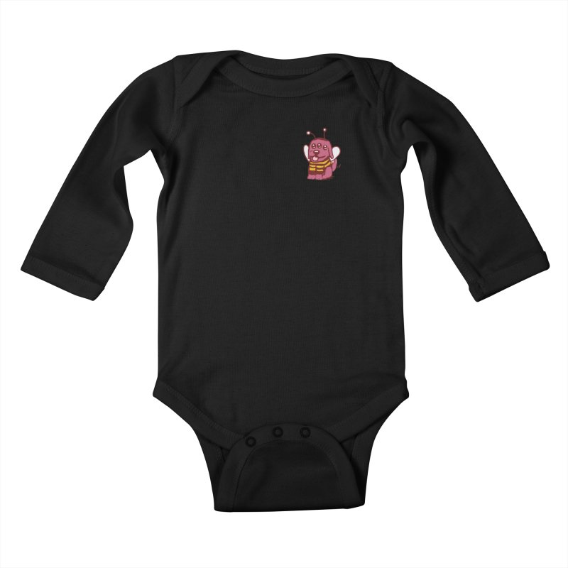 STRANGE PLANET SPECIAL PRODUCT:  OOOH DON'T STING ME Kids Baby Longsleeve Bodysuit by Nathan W Pyle