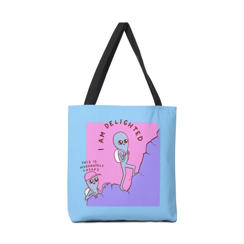 STRANGE PLANET SPECIAL PRODUCT: MODERATELY UNSAFE Accessories Tote Bag Bag by Nathan W Pyle